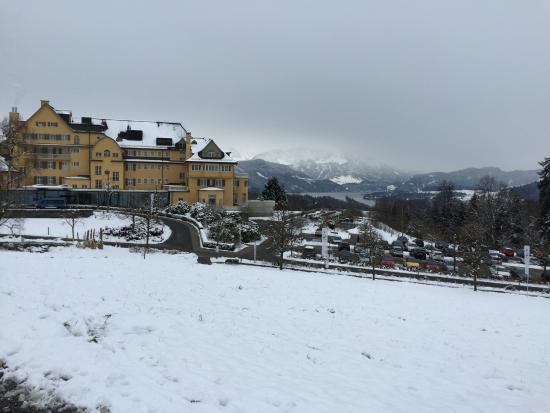 Kurhotel Sonnmatt: beautiful view of Lucerne and sonnmatt from the grounds