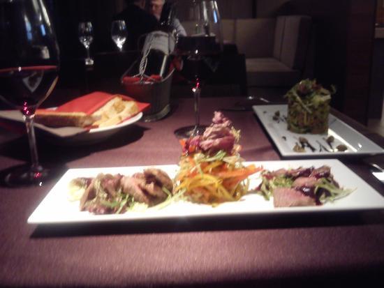 Le Vicomte Restaurant: теплый салат с бараниной