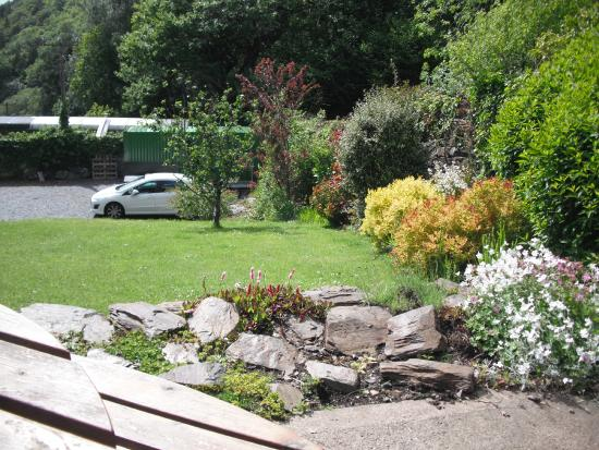 Coed Cae Bed & Breakfast: The garden and some of the car parking area