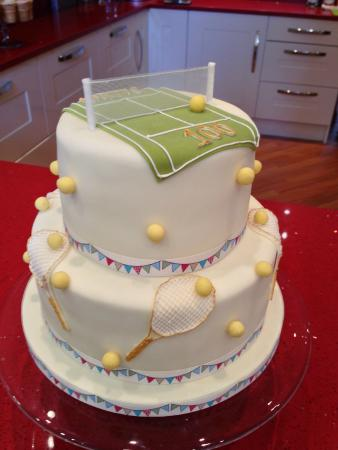 Marvelous Birthday Cake For Someone Who Is Very Much Into Tennis Picture Personalised Birthday Cards Veneteletsinfo