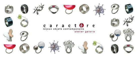 Caractere Atelier Galerie Bijoux Et Objets Contemporains Carte De Visite