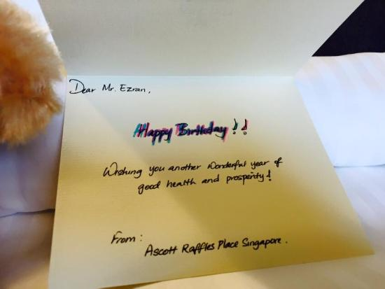 A Personalised Birthday Card From Ascott Picture Of Ascott