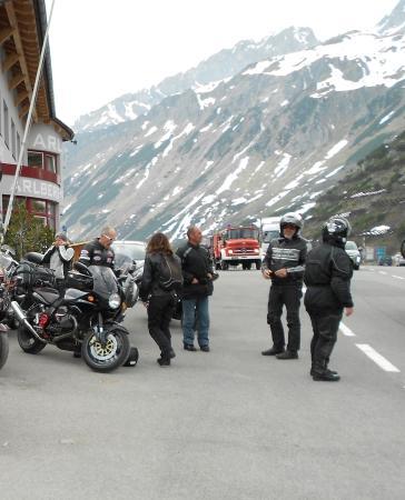 Posthotel Pfunds: Col du ARLBERG une heure avant notre arrivée.