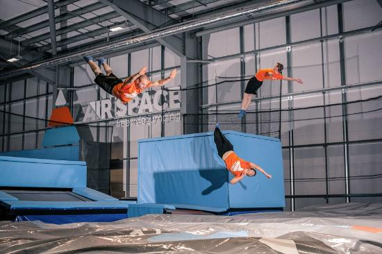 East Kilbride, UK: Dive into our giant Air Bag - where all the best moves are born