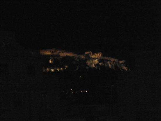 Athos Hotel: Nighttime view