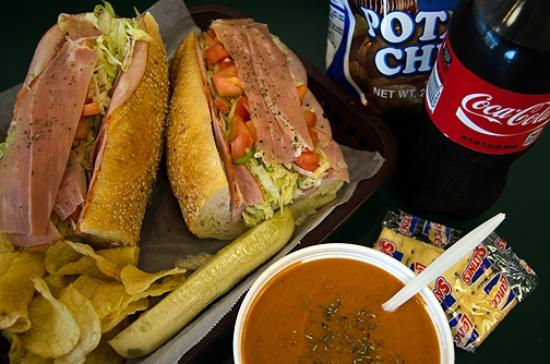 Bruno's of Lititz : We offer daily soups along with Dieffenbach's Chips and Coca Cola products.
