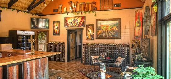 Springdale, AR: Inside the tasting room.