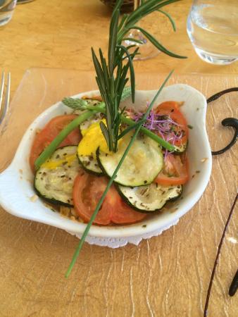 Au Fil de l'Eau: rouget et tian de légumes