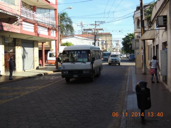 Calle Espana at front of hotel Tropical Inn, Santa Cruz, Bolivia