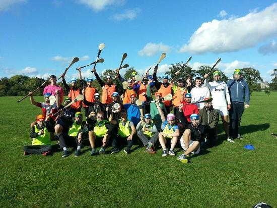 Clash Gaelic Games: Austrian Class playing Hurling in Dublin!