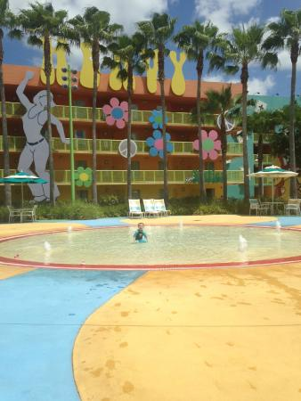 kids pool behind main hippy dippy pool picture of disney s pop rh tripadvisor com