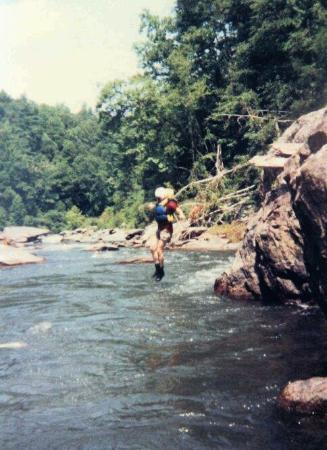 Chattooga River: jumping in to cool off