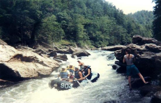 Chattooga River: narrow passage