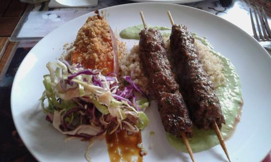 WASA Ethnik Food: Beef Kefta, sweet potato and cabbage salad.