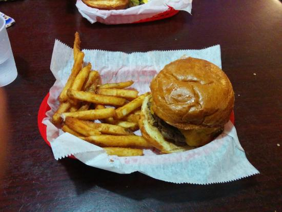 Beth's Burger Bar: Peanut Butter triple w/ fries