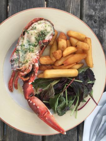Tarr Farm Inn: Lobster and chips - delicious!