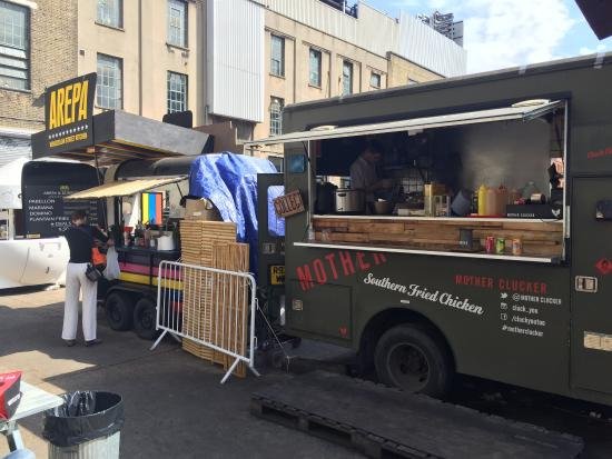 Street Food Cars Picture Of The Old Truman Brewery London