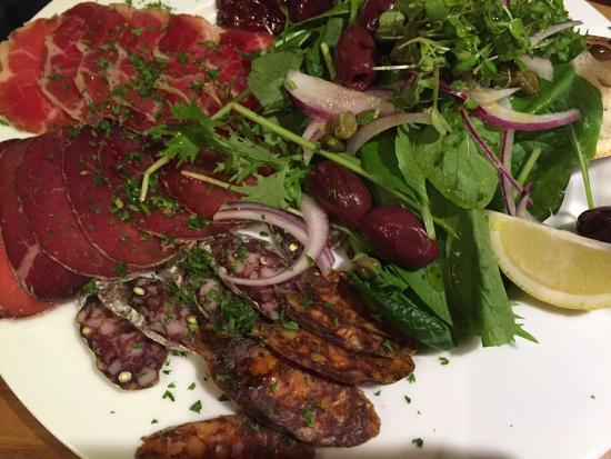 Vangionis Trattoria and Bar: A great selection of meats cured by the restaurant.