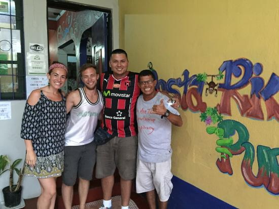 Hotel Cortez Azul : Luis (the manager), Jose (car rental company), my girlfriend and I