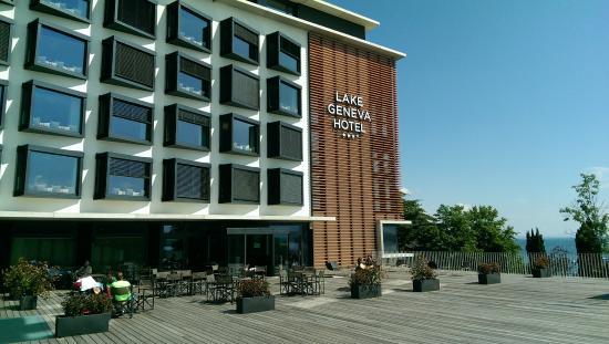 Lake Geneva Hotel Facade