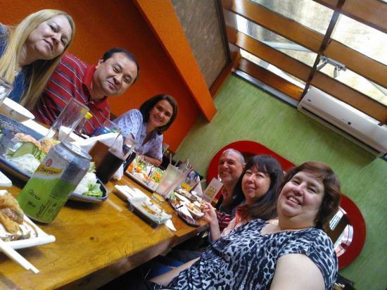 Koban, com a família e amigos muito queridos.