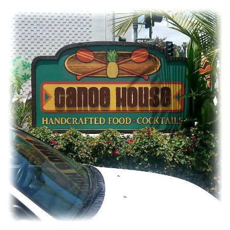 Canoe House Sign