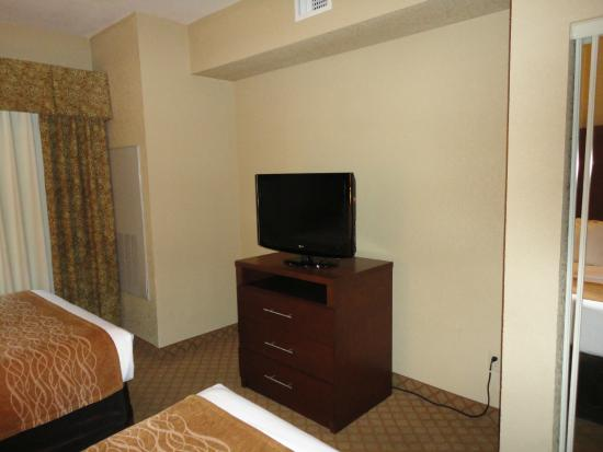 Comfort Suites Near Seaworld: Bedroom TV