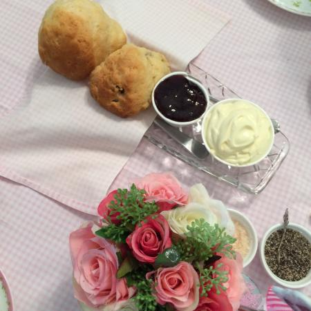 Moments \u0026 Memories Tea Room Excellent scones and very refreshing house blends tea & Table setting for High Tea - Picture of Moments \u0026 Memories Tea Room ...