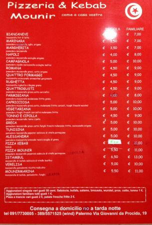 Mounir - Pizzeria & Kebab: prezzi