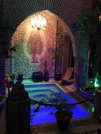 Riad Mabrouka Marrakech: Pond in dining room
