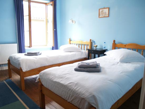Journet, Francja: Chambre Bleue, room with 2 single beds and ensuite