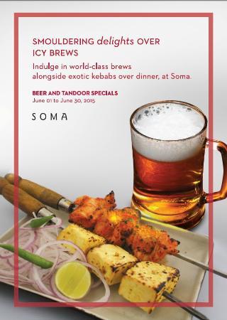 Soma (Indian Cuisine) at Grand Hyatt Mumbai: Beer and Tandoor specials at SOMA