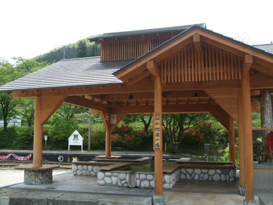 Yunokami Onsen : 駅の隣に無料足湯所もあります