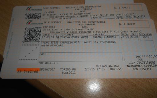 Treni Eurostar Italia: Passagens