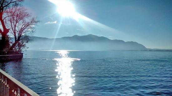 Ristorante Eurovil Il Timone: Il lago da Predore