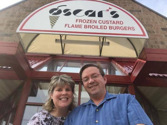 Oscar's Frozen Custard: 15 years ago, I met my future husband at Oscar's Custard Stand.  So every June 3rd we go back to