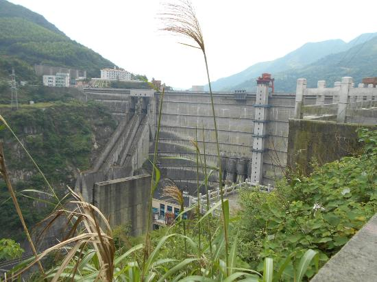 Zixing, Κίνα: Dongjiang dam is ranking No.2 among the dams with the same dam type worldwide.