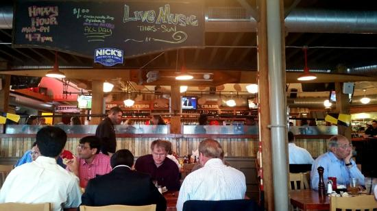 Dining area picture of nick 39 s fish house baltimore for Nick s fish house baltimore md