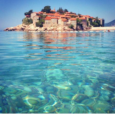 Public beach, Clean wather Sveti Stefan beach