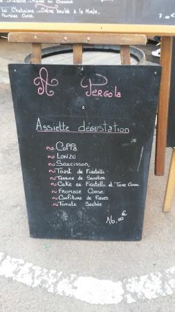 A Pergola: Assiette dégustation