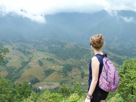 Casablanca Hotel: View from a trek along the rice paddies in Sapa