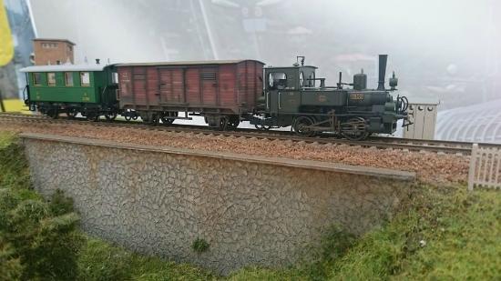 Museo Ferroviario di Suno: diorama 2