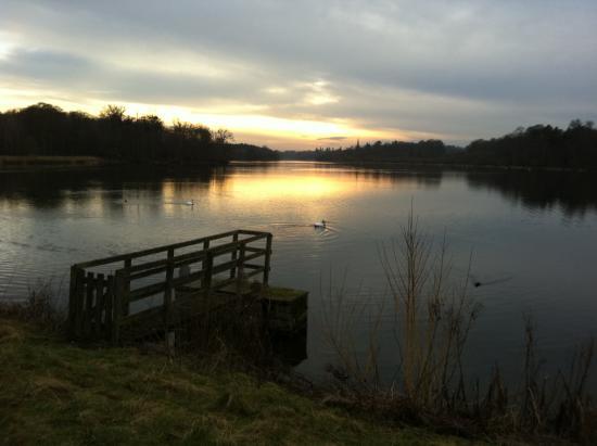 Clumber Park: Sunset over Clumber Lake