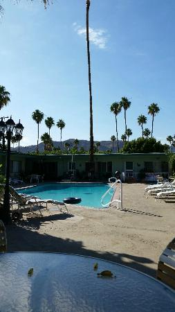 Twin Palms Resort: View of pool from unit #6