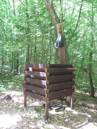 Brownfield, ME: Camp shower