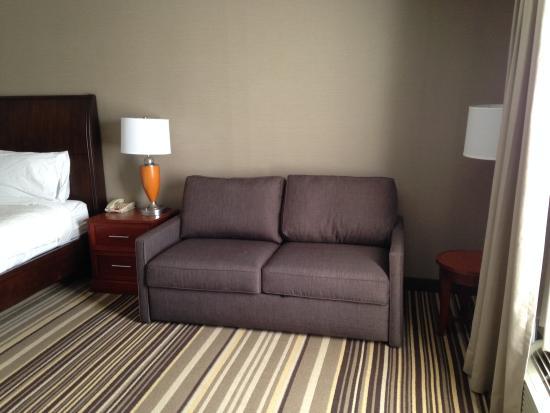 Hilton Garden Inn Philadelphia/Ft. Washington: The couch.