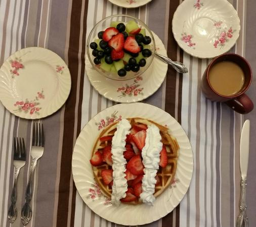 Francis Point B&B: Beautiful breakfast