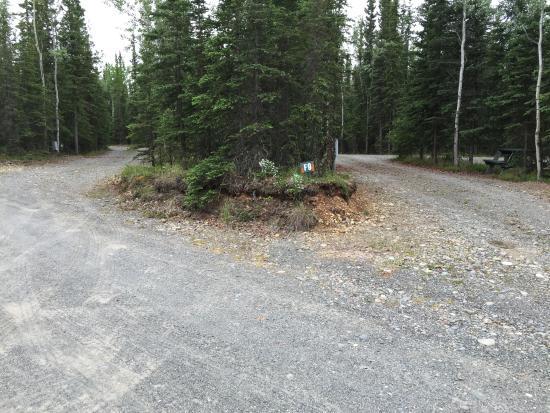Sourdough Campground: A pull thru site