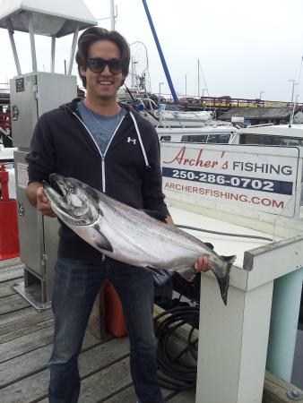 Campbell River, Kanada: Caught my first Chinook fishing with Rob Archer!