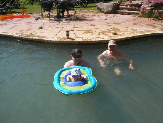 Avalanche Ranch Hot Springs : Float for babies in the big pool.